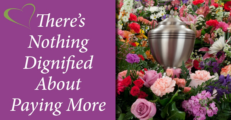 cremation urn surrounded by flowers